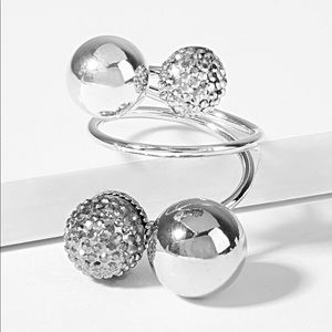 Jewelry - Ball Design Spiral Layered Ring 1pc